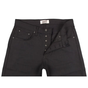 Naked & Famous Easy Guy Fit Denim - Solid Black Selvedge