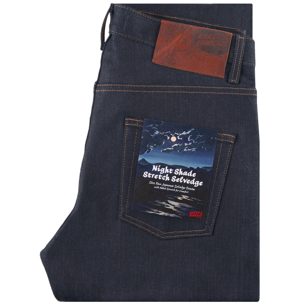 Naked & Famous Easy Guy Fit - Night Shade Stetch Selvedge