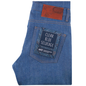 Naked & Famous Super Guy Fit Denim - Clear Blue Selvedge