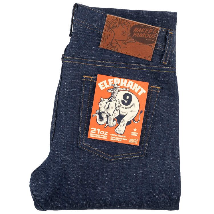 Naked & Famous Weird Guy Fit - Elephant 9 Denim