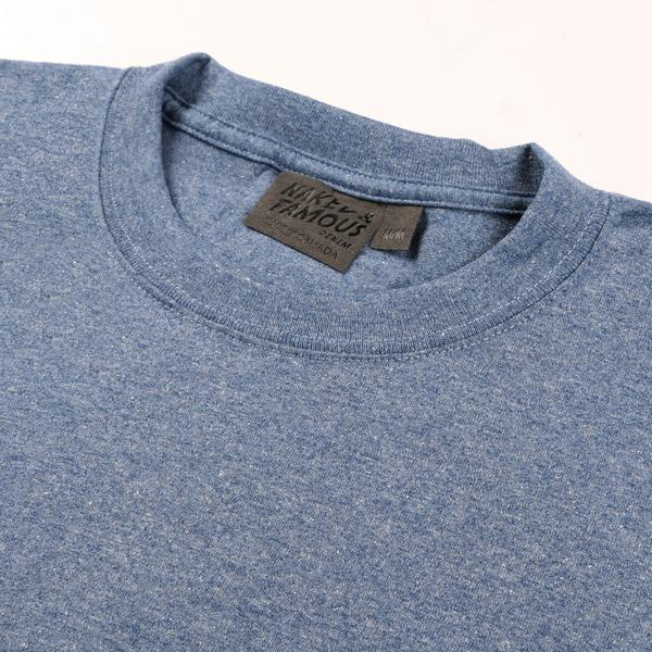 Naked & Famous Circular Knit T-Shirt - blue