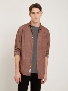 Frank and Oak Marled Cotton Shirt