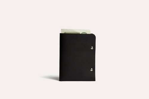 Kiko Unstitched Leather Two-Fold Wallet