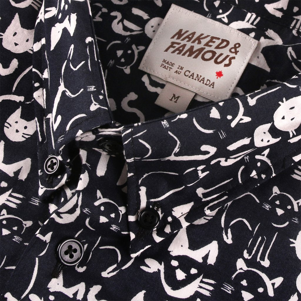 Naked & Famous Easy Shirt Cats