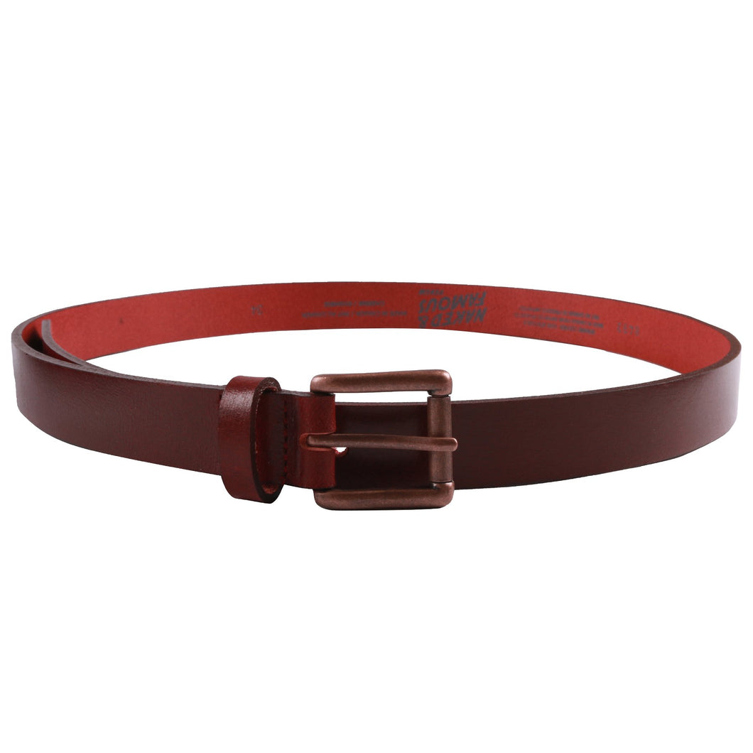 Naked & Famous Buffalo Belt - Deep Red