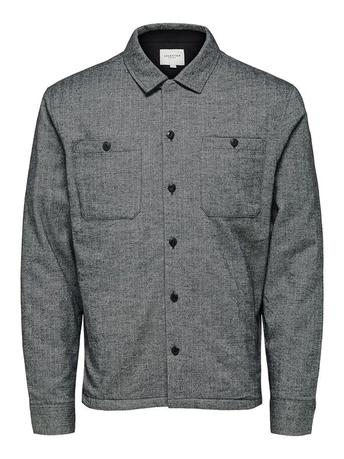 Selected Homme Herringbone Shirt Jacket
