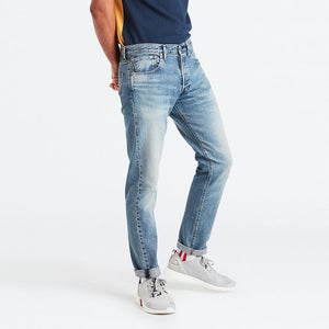 Levis Mens 501 Slim Taper Jean - Cotton Ball