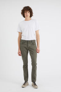 Neuw Lou Slim Fit Twill Pant - Pale Military