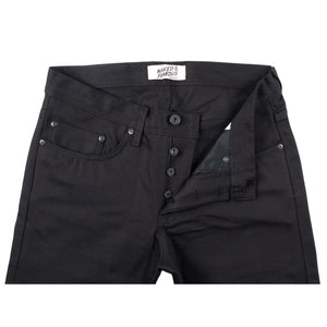 Naked & Famous Weird Guy Fit Denim - Black Selvedge Chino