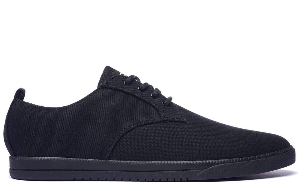 Clae ELLINGTON TEXTILE Black Waxed Canvas