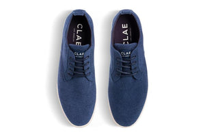 Clae Ellington Textile - Navy Recycled Terry