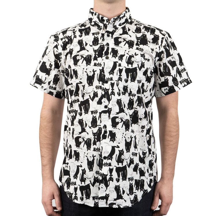 Naked & Famous Easy Shirt - Funny Cats