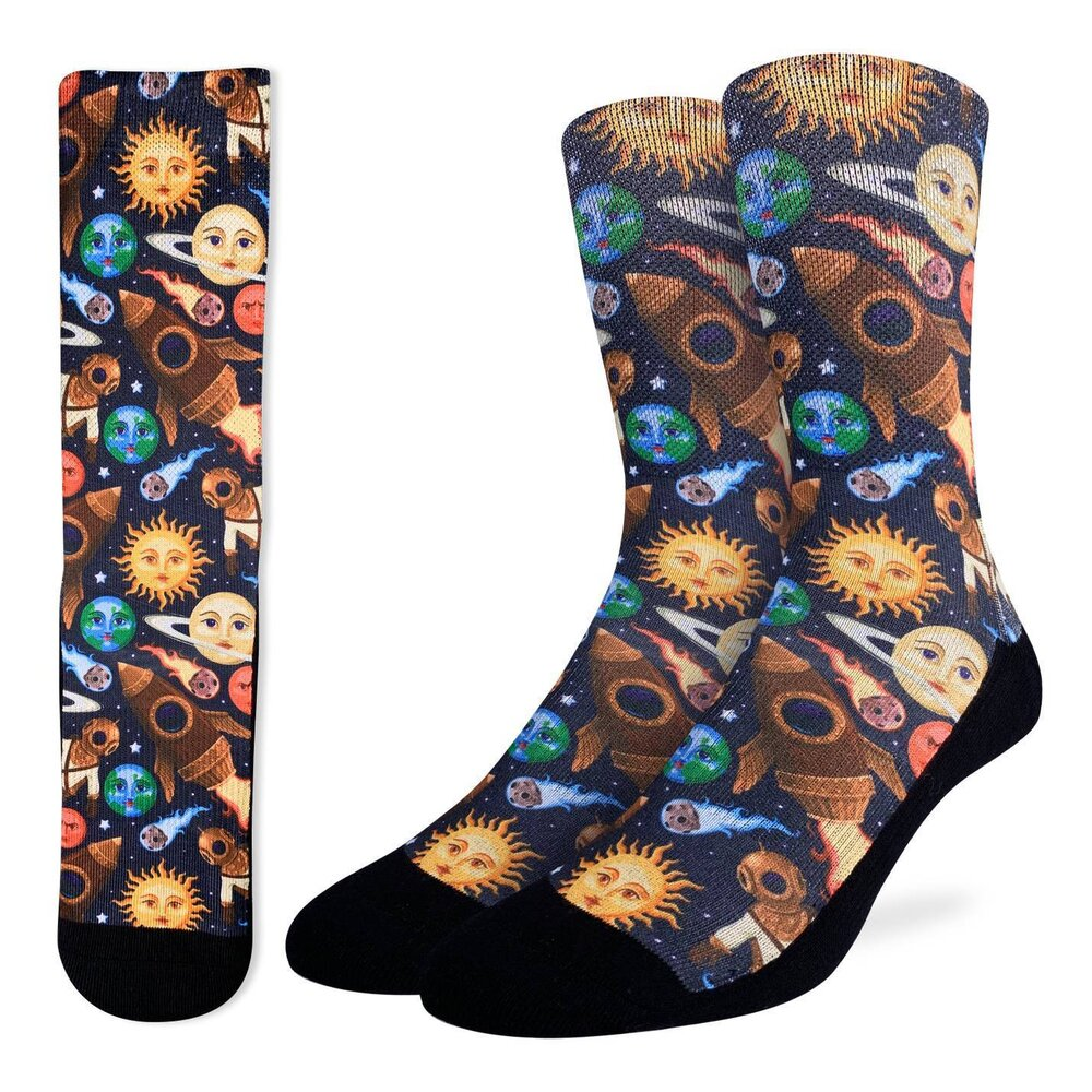 Good Luck Sock - Stars & Steampunk Active Fit Sock