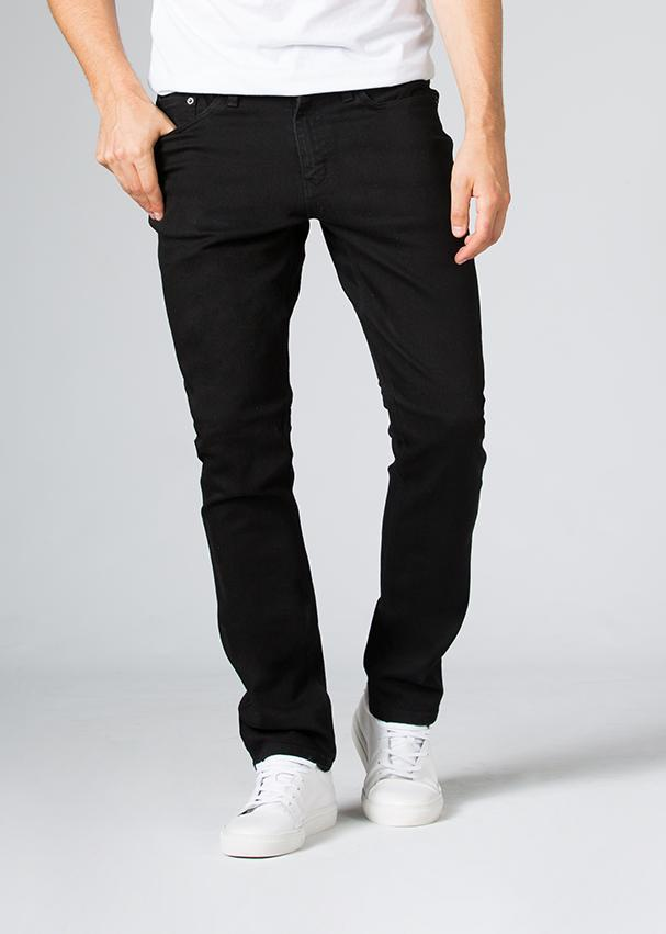 Duer Mens Relaxed Fit Performance Denim - Black Rinse