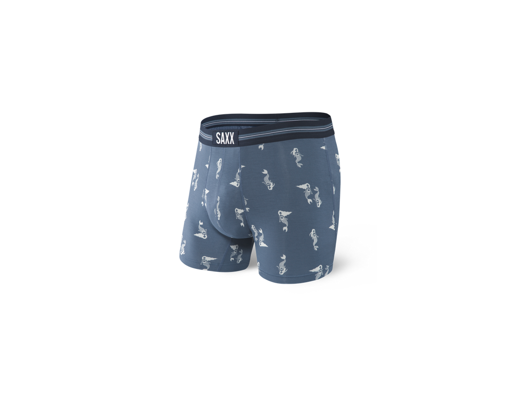 Saxx Vibe Boxer Brief - Blue Tiny Mermaid