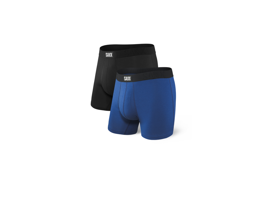 Saxx Vibe Boxer Brief - 2 Pack Black/Blue