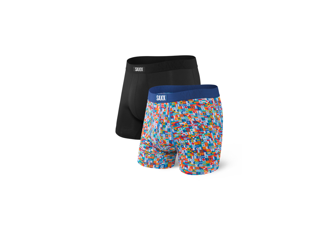 Saxx Undercover 2-Pack Boxer Brief - Black/Yacht Rock 101
