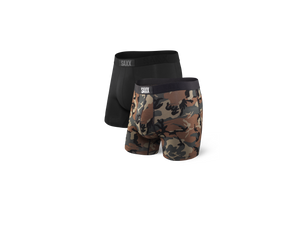 Saxx Vibe Boxer Brief - 2 Pack Wood/Black
