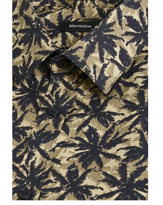 Matinique Robo Palm Print Shirt