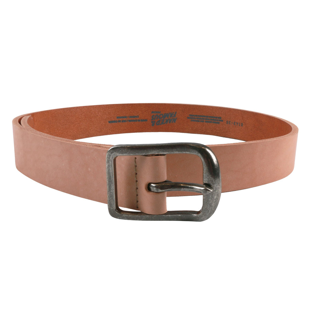 Naked & Famous Thick Belt 7mm Bovine Leather - Natural Tan