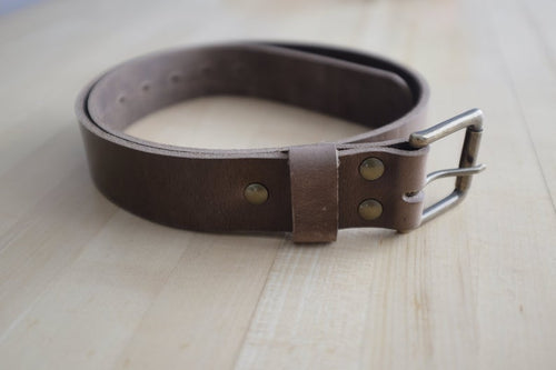 Adamson & Son Daniel Belt - Horween Natural Chromexcel