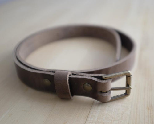 Adamson & Son Zach Belt - Horween Natural Chromexcel