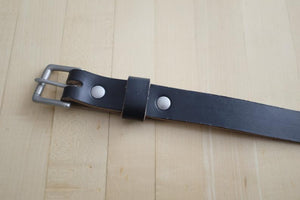 Adamson & Son Zach Belt - Horween Black Chromexcel