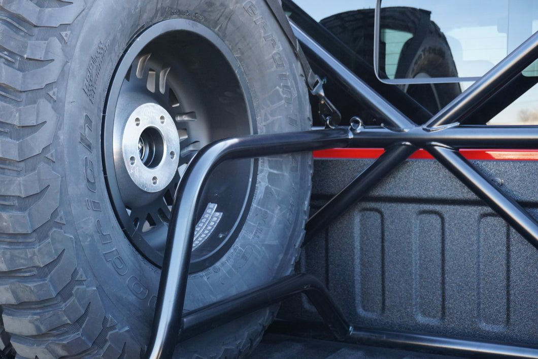 SPARE TIRE OPTION - SINGLE TIRE CARRIER