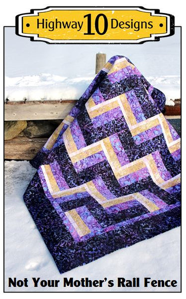 Not Your Mothers Rail Fence Paper Quilt Pattern