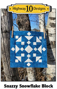 Snazzy Snowflake Quilt Block - Free