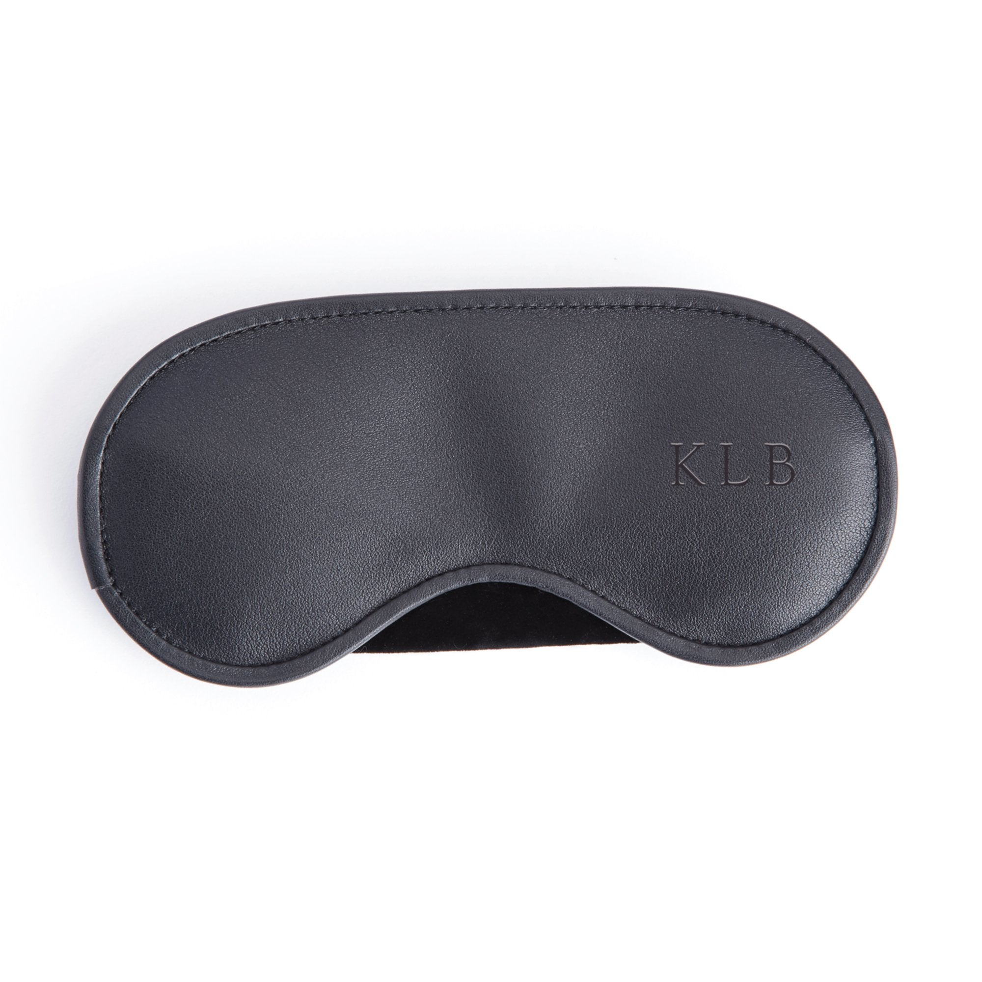 Royce Leather Personalized Eye Mask in Black