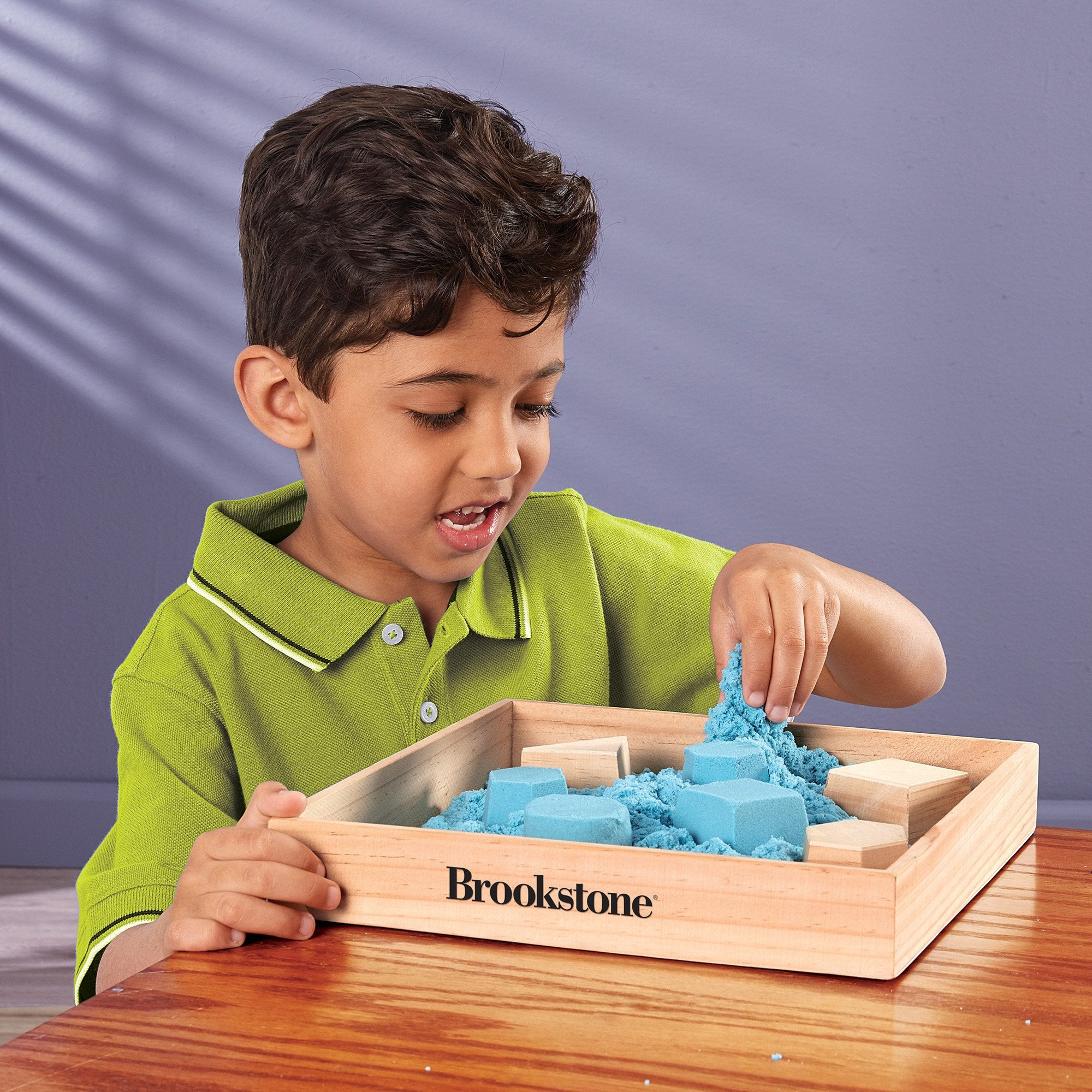 Innovative Designs Brookstone Wooden Sand Box in Brown