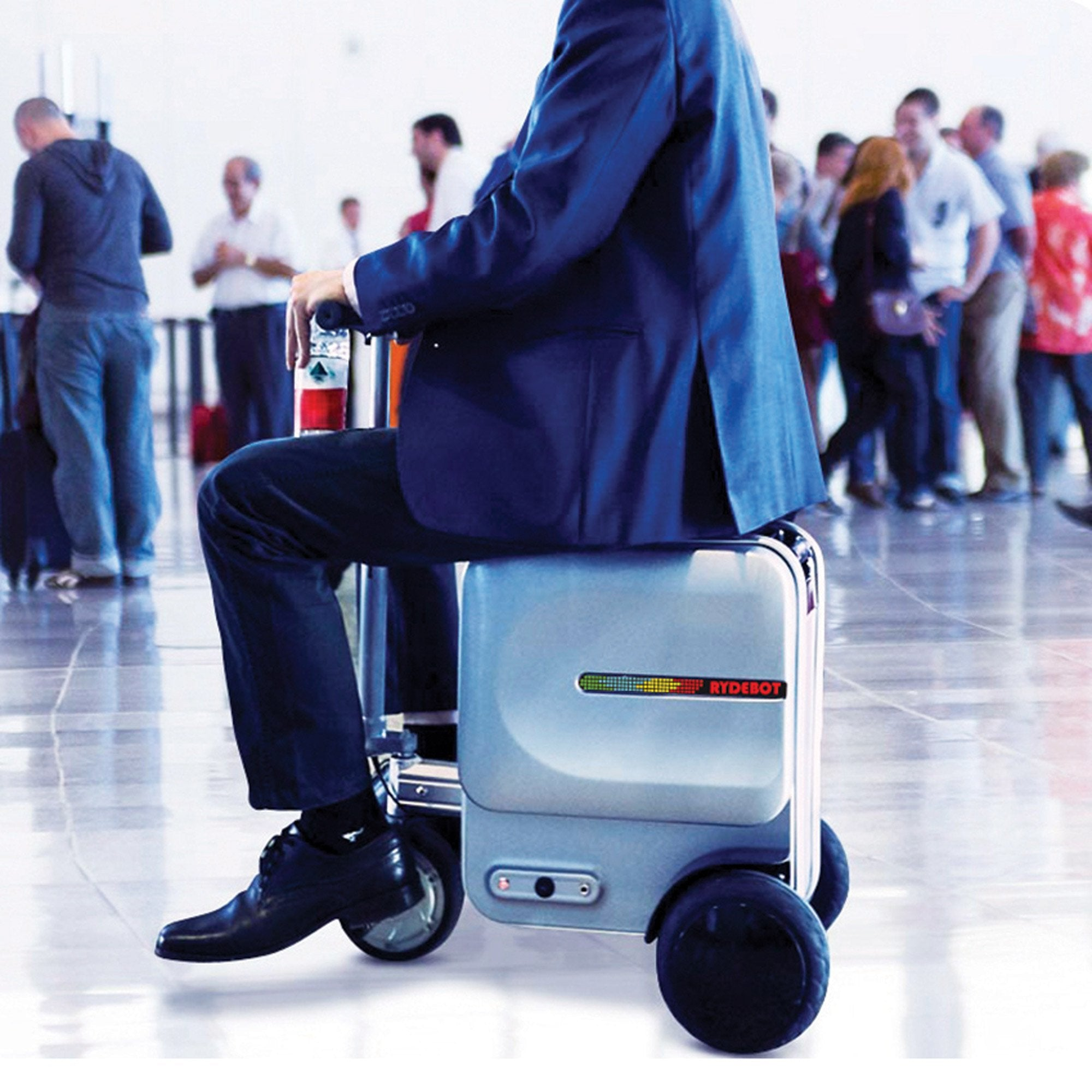 Rydebot Cavallo Smart Ride-On Luggage in Silver