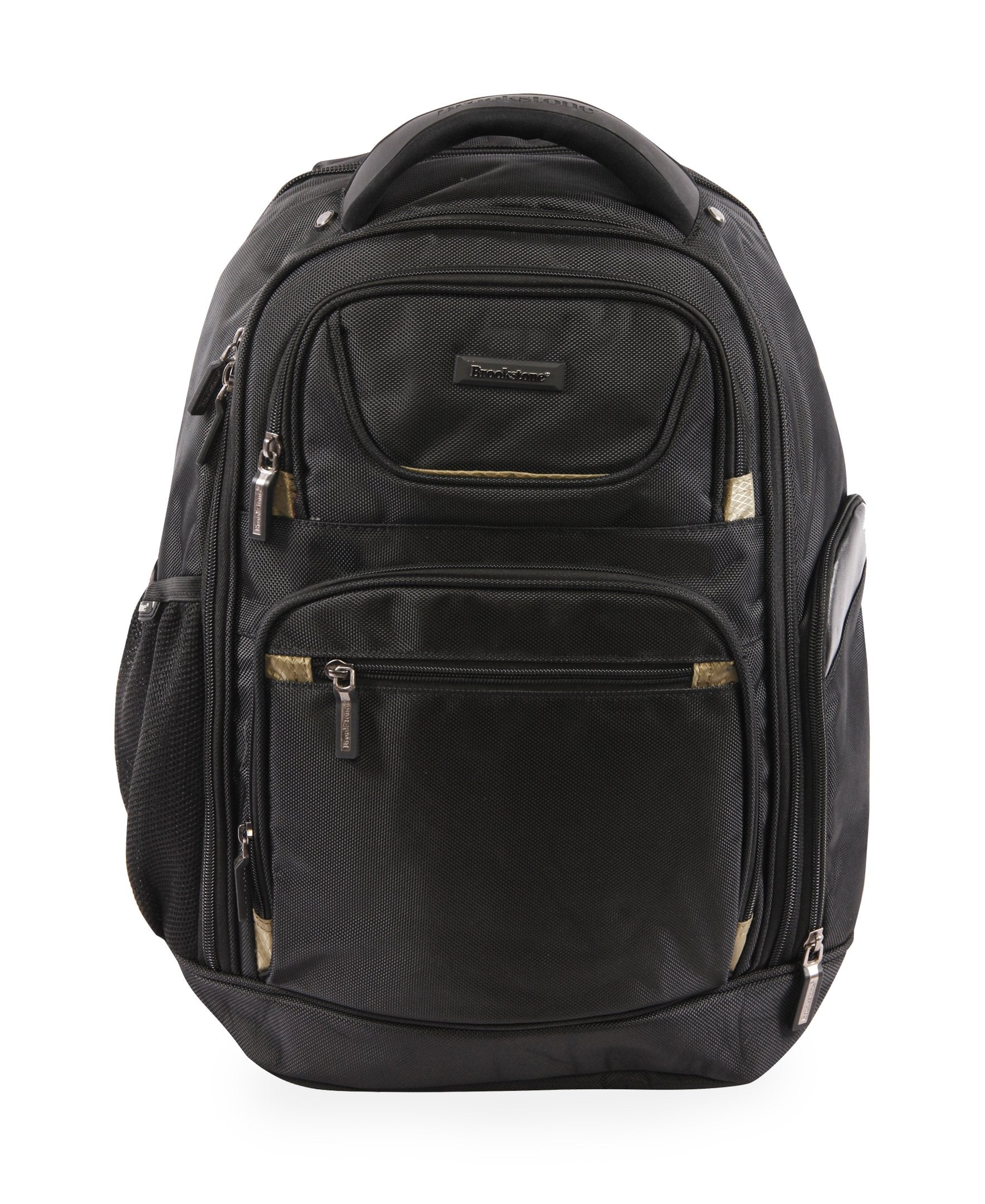 American Traveler Brookstone Hayes Laptop Backpack in Black, Size 19 Inch