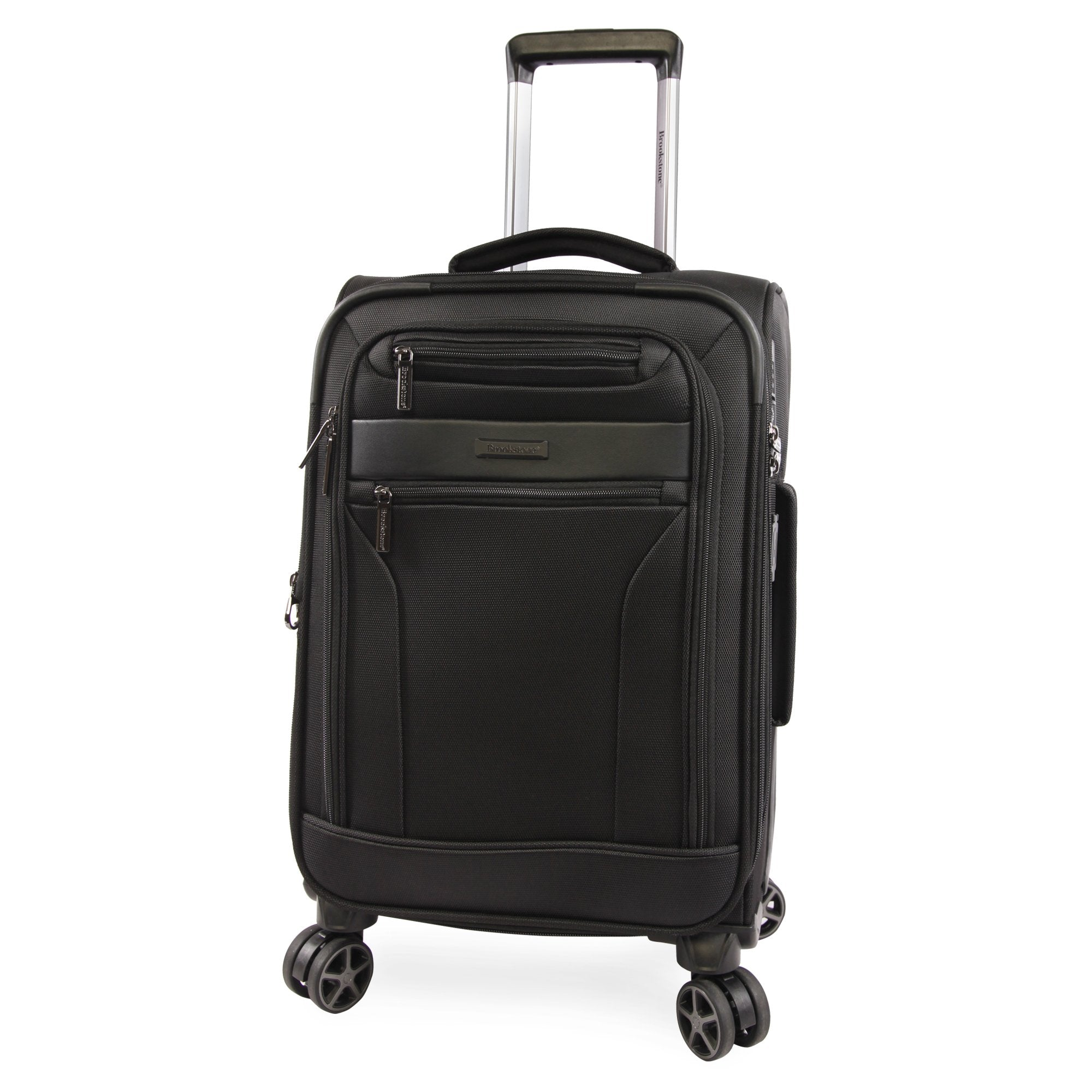 """American Traveler Brookstone Harbor 21"""" Softside Carry-On Spinner in Black, Size 21 Inch"""