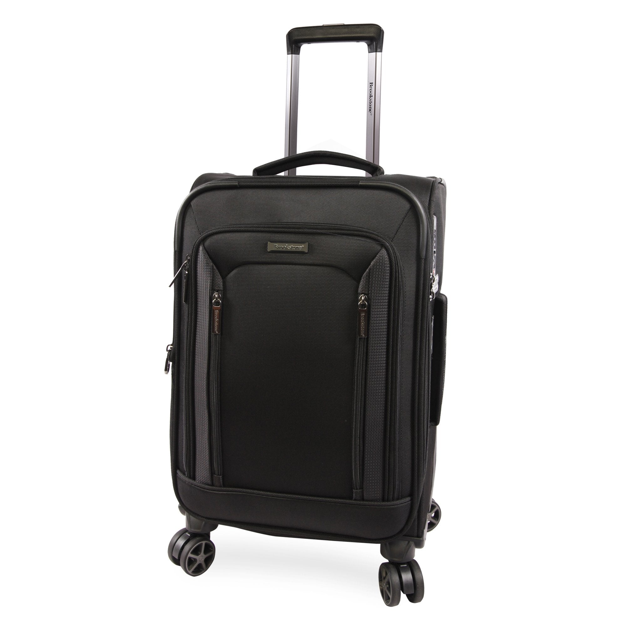 """American Traveler Brookstone Elswood 21"""" Softside Carry-On Spinner in Black, Size 21 Inch"""