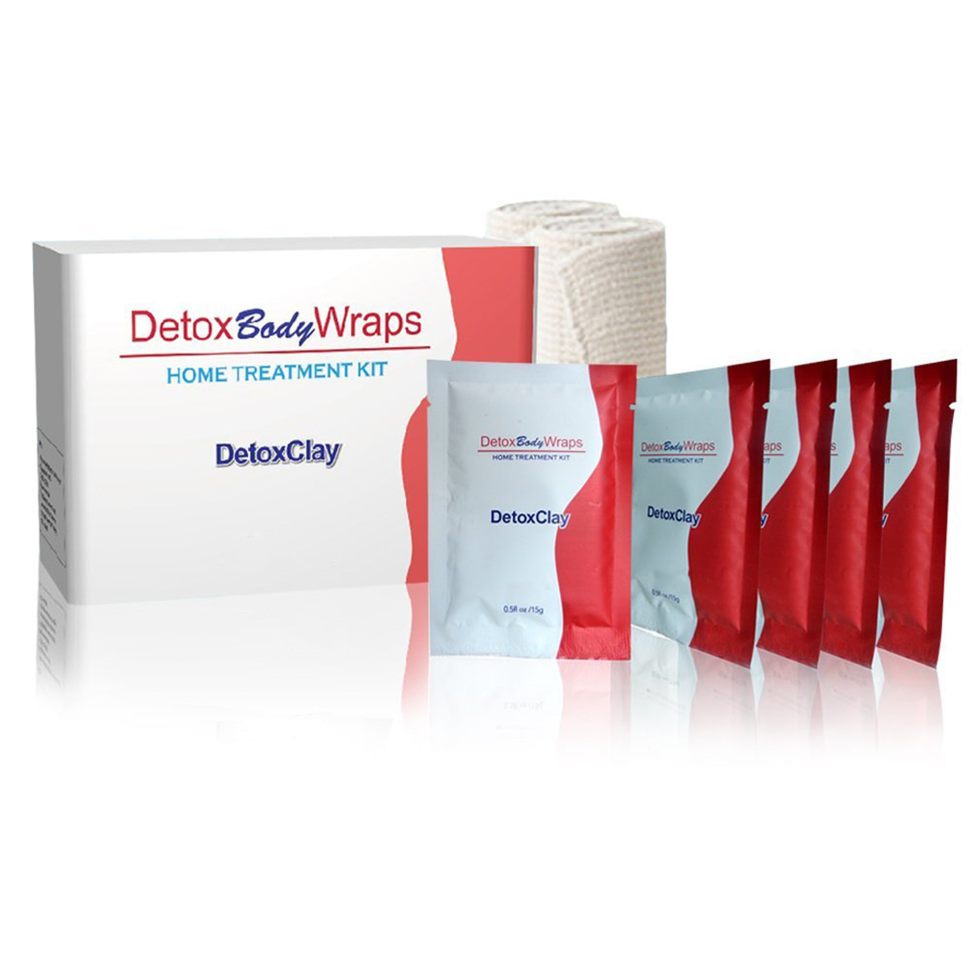 Teleshop Inc. Detox Clay Body Wraps for Assisted Weight Loss in White