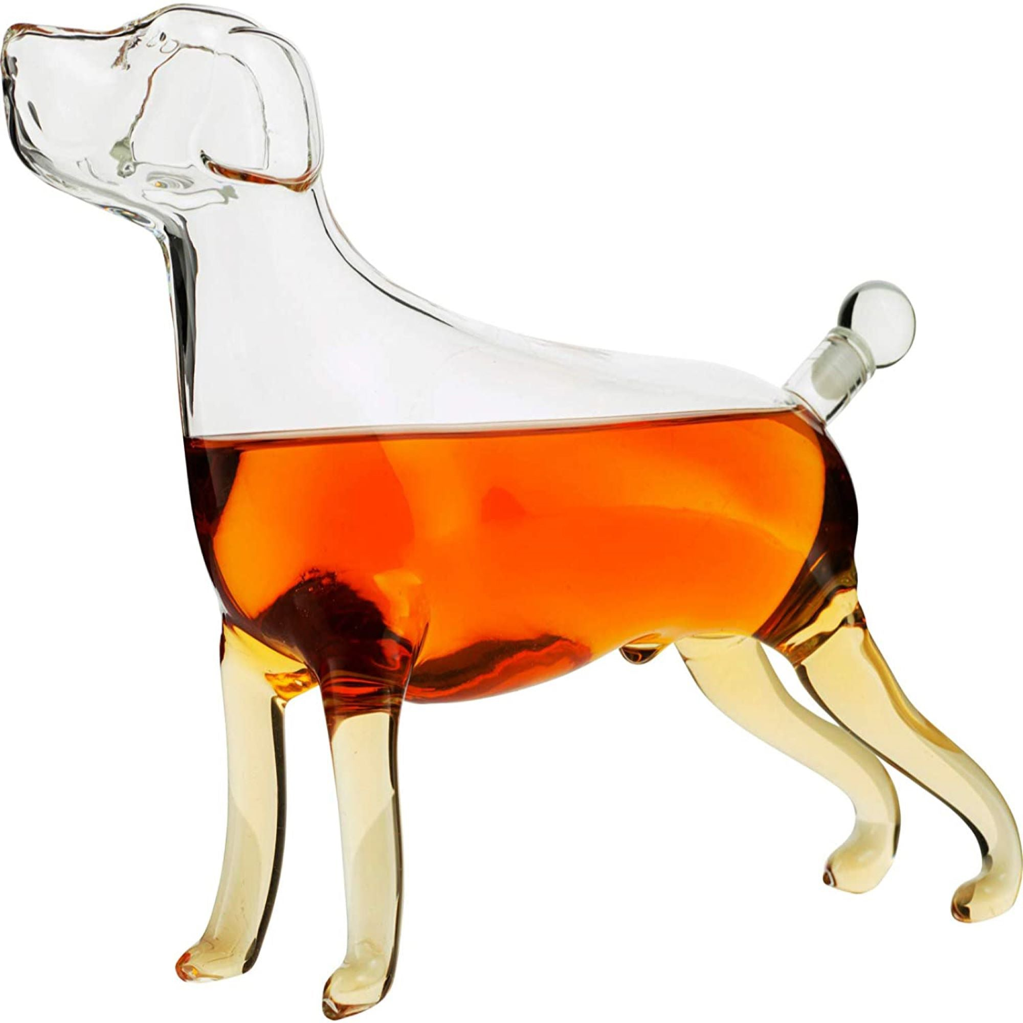The Wine Savant Dog Animal Whiskey and Wine Decanter in Glass