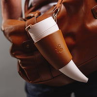 Goat Mug With Real Leather Holder