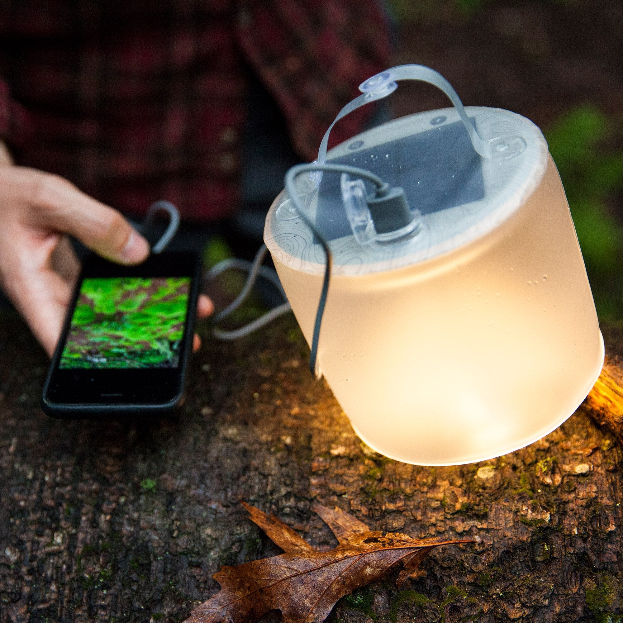 Mpowerd Luci Pro Lux: Solar Inflatable Lantern + Charger in Matte/grey