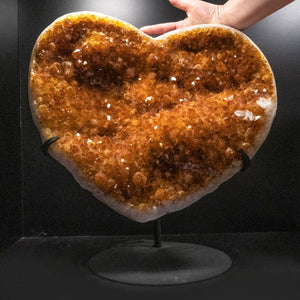 Citrine Cluster Heart on Stand from Uruguay (22 lbs)