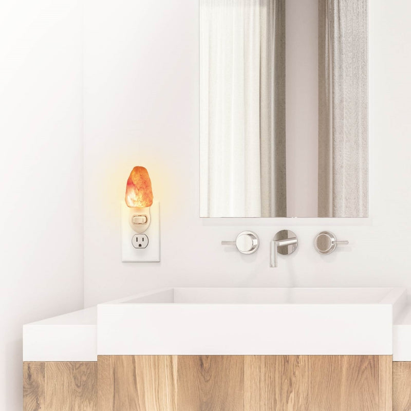Brookstone Himalayan Natural Shape Crystal Salt Rock Night Light