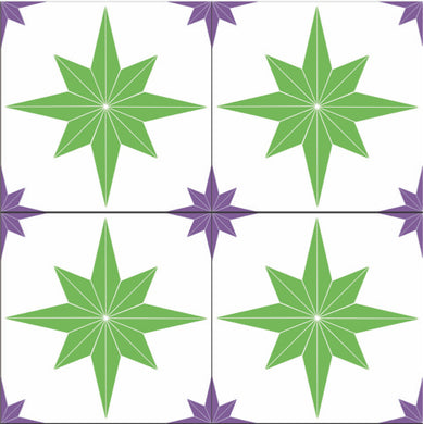 Astral Stars Green & Purple