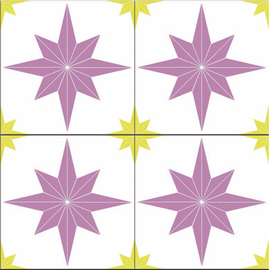 Astral Stars Pink & Yellow