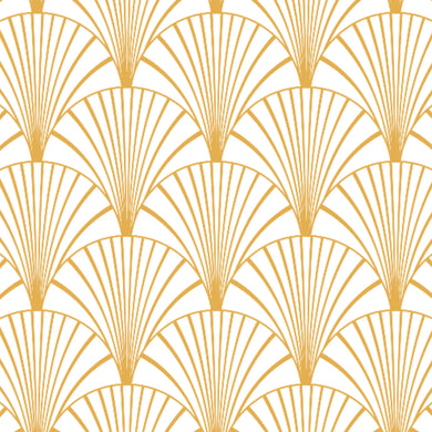 Art Deco White & Gold