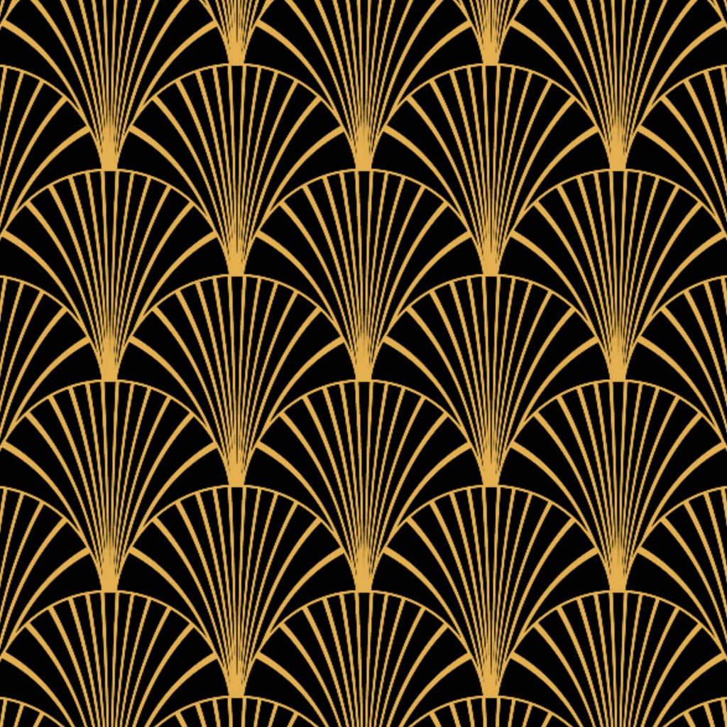 Art Deco Black & Gold Sample