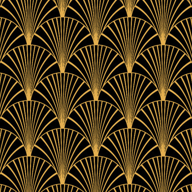 Art Deco Black & Gold