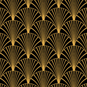 Art Deco Black & Gold - Floor & Wall