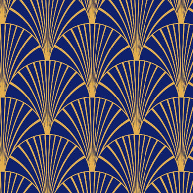 Art Deco Navy & Gold