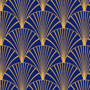 Art Deco Navy & Gold Sample